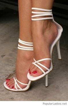 awesome-white-strappy-shoes