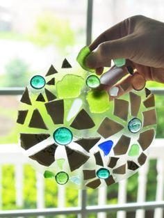 trittsteine mit mosaik zum selbermachen kunststoff aufkleben