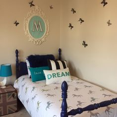 Big Girl Room with Blue and Teal Accents