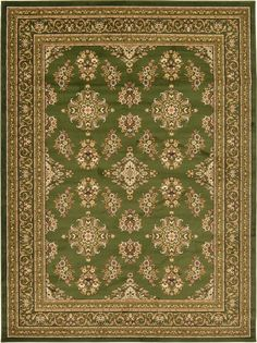 Isfahan Green Area Rug