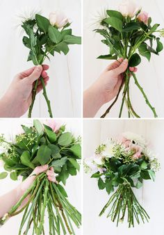 this entire post explains how to properly care for flowers and arrange
