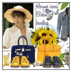"""Hermes Birkin handbag"" by crisvalx-cv ❤ liked on Polyvore featuring LE3NO, Hermès, La Ligne, Bill Blass and Trilogy"