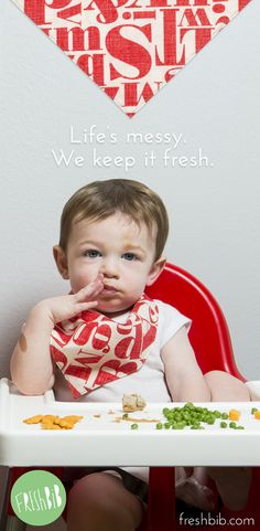 Life can be messy. Fresh BiB can help... reversible bandana bibs, paci-clips, teethers, and more.
