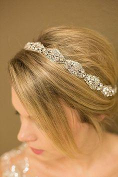 Amazing Erica Koesler headband ~ looks so beautiful in person #CasablancaBridalFlagship #Casablancabridal
