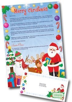 Christmas morning letter from santa with religious theme christmas christmas letter from santa cute kid creations spiritdancerdesigns Images