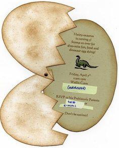 Printable Dinosaur Egg Invitations Coolest Free Printables ...