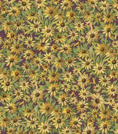 Susan Winget Premium Quilt Fabric-Autumn Flowers Sunflowers at Joann.com