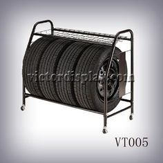 Rolling Tire Storage Rack Simple Two Layers Tire Rack Display Goodyear   Buy Tire Rackmetal Tyre