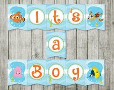 Wonderful Baby Shower Invitation  Ocean Invitation   Finding Nemo   Nemo Invitation    Nemo Co Ed Baby Shower Invitation   Boy Girl Invitation