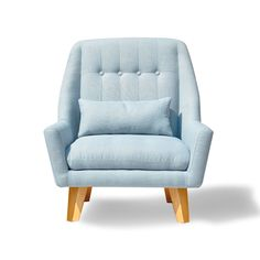 Baby Blue Modern Chair   dotandbo.com