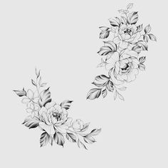 Floral Tattoo Design, Flower Tattoo Designs, Flower Tattoos, Tattoo Floral, Girly Tattoos, Mini Tattoos, Small Tattoos, Feminine Tattoos, Hip Tattoos Women