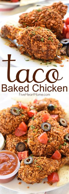 Taco Baked Chicken FoodBlogs.com