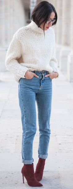 Alex's Closet White Perfect Knit Fall Streetstyle women fashion outfit clothing stylish apparel @roressclothes closet ideas