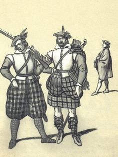 Scots in polish service - musketeer and archer. Fig. B. Gembarzewski.