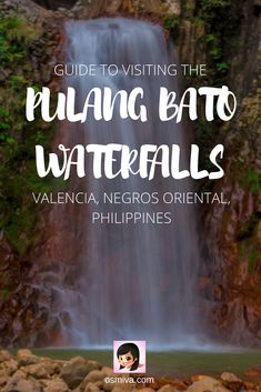 Guide To Visiting Valencia's Pulang Bato Falls in Negros Oriental, Philippines. List of things to do when visiting one of Valencia's popular waterfalls. Includes guide on how to get there from Dumaguete City. #travel #travelph #pulangbatofalls #valencia #negrosoriental #philippines #choosephilippines #asia #osmiva #valenciadaytrips via @osmiva
