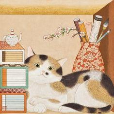 마릴린 묘로, 27x27cm 퇴근하는 남편을 종종 따라와서 저녁밥을 먹고 가는 울동네 삼색이.사람들과 친해져... Korean Art, Asian Art, Art Sketches, Art Drawings, Japanese Art Prints, Chinese Posters, Korean Painting, Street Mural, Thai Art