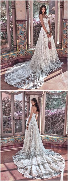 Galia Lahav Wedding Dresses 2018 Victorian Affinity Collection - Georgia... Love the lace...with a dif neckline