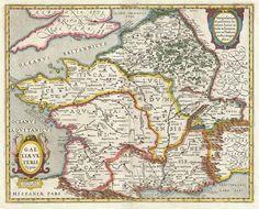 Carte de la Gaule romaine par Johannes Janssonius (1657)
