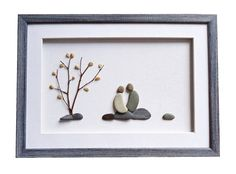 Personalized pebble art romantic love gift for couples, girlfriend, engagement…