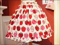 Apple Frill Skirt by Metamorphose Temps de Fille  810202 りんごフリルスカート