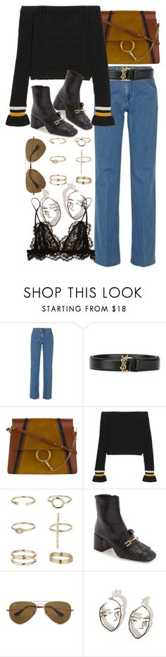 """Untitled #10230"" by nikka-phillips ❤ liked on Polyvore featuring Victoria, Victoria Beckham, Yves Saint Laurent, Chloé, 3.1 Phillip Lim, Miss Selfridge, Topshop, Ray-Ban and Isabel Marant"