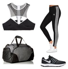 """""""My First Polyvore Outfit"""" by elysian-rever ❤ liked on Polyvore featuring This Is a Love Song, NIKE, adidas Originals and Under Armour"""
