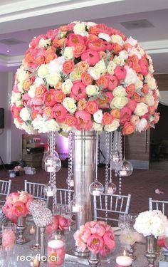 10 Cheap Wedding Reception Flower Tips ** Pinspirated! Tall Wedding Centerpieces, Flower Centerpieces, Reception Decorations, Flower Arrangements, Cheap Wedding Reception, Mod Wedding, Wedding Receptions, Wedding Flower Inspiration, Wedding Flowers