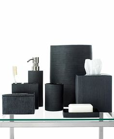 Hotel Collection Ribbed Bath Accessories Collection - Bathroom Accessories - Bed & Bath - Macy's