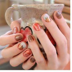 Jamberry cider sugar fever / I lava you lacquer Fall Nail Art Perfection! Fall Nail Art, Autumn Nails, Fall Nail Colors, Fancy Nails, Cute Nails, Pretty Nails, Diy Nails, Fall Manicure, Manicure And Pedicure
