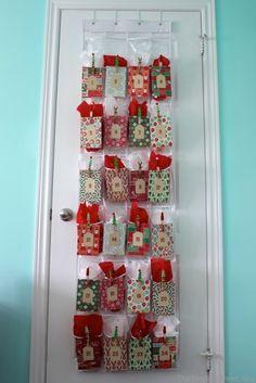 Shoe organizer advent calendar #Christmas #crafts                                                                                                                                                                                 More