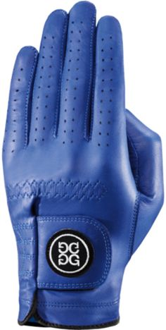 GFore Luxe Leather Azure Golf Glove