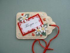 Adorable felt gift tag