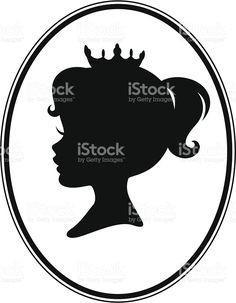 Niña princesa Cameo silueta illustracion libre de derechos libre de derechos