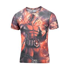 Newest t-shirt Men Women t shirt Fashion 3D T Shirts American Comic Badass Deadpool Tees Summer Cool tees tops