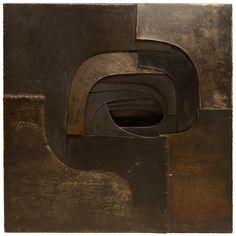 Untitled (c.1960) sculpture by Spanish artist Amadeo Gabino (1922-2004). Steel, 27.75 x 27 x 3 in. via 1st dibs