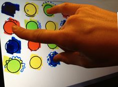 This activity addresses finger isolation, direction following, and color recognition by playing a mini twister game.