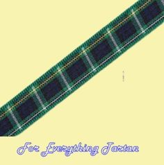 Campbell Argyll Tartan Polyester Ribbon 10mm x 25 metres