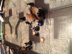 D Dungeon Command. A fun skirmish-level fantasy battle game. Great painted minis, too.