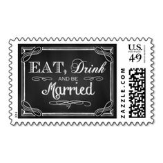 Eat Drink and be Married Stamps