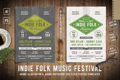Indie Folk Music Festival Flyer Template PSD, AI Illustrator. Download here: https://graphicriver.net/item/indie-folk-music-festival-flyer/17129868?ref=ksioks
