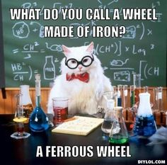 A collection of the Chemistry Cat meme. These are the top Chemistry Cat meme jokes. View and rate your favorite memes of Chemistry Cat. Chemistry Cat, Chemistry Pick Up Lines, Organic Chemistry, Science Pick Up Lines, Nerdy Pick Up Lines, Teaching Chemistry, Humor Nerd, Nerd Jokes, Science Jokes