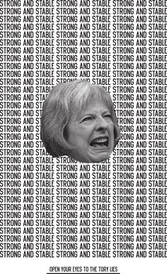 Rob Lowe / Supermundane - Strong and stable, anti-tory poster, parliamentary elections 2 . - Rob Lowe / Supermundane – Strong and stable, anti-tory poster, parliamentary elections 2017 – # - Graphic Design Posters, Graphic Design Inspiration, Graphic Art, Event Poster Design, Typography Poster Design, Vintage Graphic, Poster Designs, Graphic Designers, Political Posters