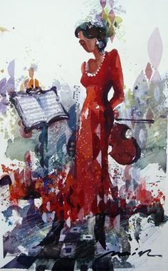 Musician: Watercolor by Misha Lenn