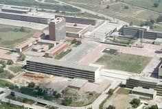 Ciudad Universitaria, vista aérea, Ciudad de México, 1953. Foto: Juan Guzmán. Archivo fotográfico del Instituto de Investigaciones Estéticas, UNAM.