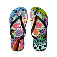 Burst Flip Flops> New Section> Beth Nadler Art