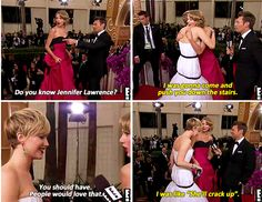 Taylor Swift telling Jennifer what she was going to do on the 71st Golden Globes when Jennifer won.
