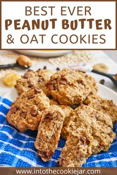 These peanut butter and oat cookies are just a few ingredients, no flour or eggs, and can be made for breakfast to have them as healthy breakfast cookies. These are great cookies to make with kids, as well as protein packed cookie recipes and peanut butter flavored cookies for peanut butter fans everywhere - crunchy or creamy, it's up to you! Making Peanut Butter, Best Peanut Butter Cookies, Peanut Butter Oatmeal, Oatmeal Breakfast Cookies, Banana Oatmeal Cookies, Oat Cookies, Banana Cookie Recipe, Sugar Cookies Recipe, Healthy Cookie Recipes