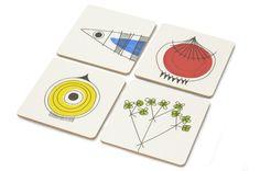 Almedahls Picknick Coaster Set by Marianne Westman