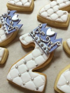 Two with sophia the first crown cookies
