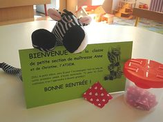carte-de-bienvenue pour les enfants lors de la rentrée chez Anne inspirée du livre La provision de bisous de Zou